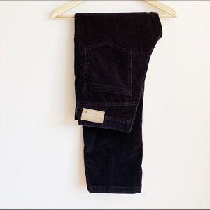 dark indigo stretchy straight leg cords